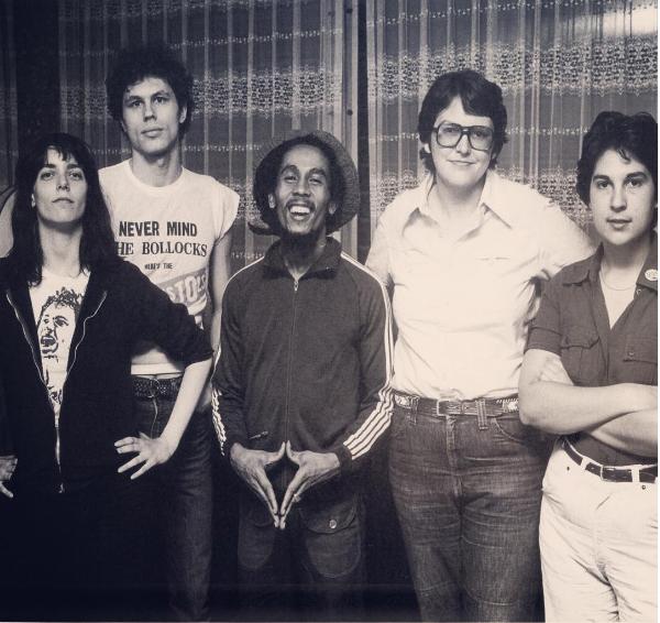Bob Marley, Terri Hemmert & WXRT Staff